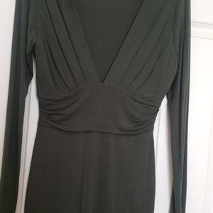 Olive Green Form Fitted Dress